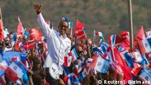 Ruanda Präsidentschaftswahlen Kampagne Präsident Paul Kagame