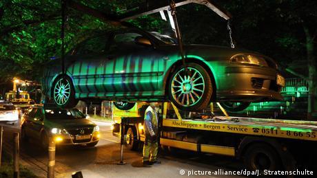 Евакуювання авто в Ганновері