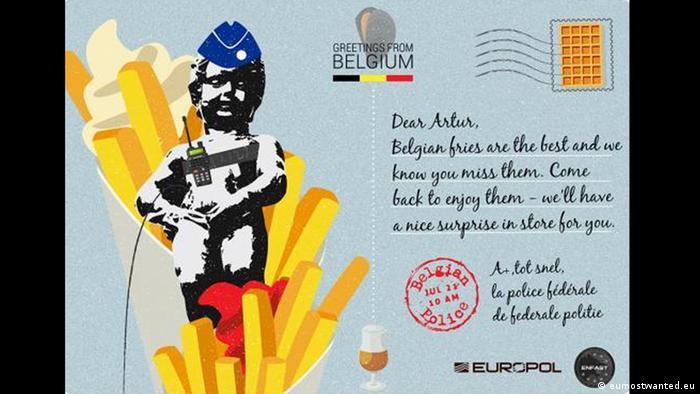 Postkarten - eumostwanted summercampaign: Belgien (eumostwanted.eu)