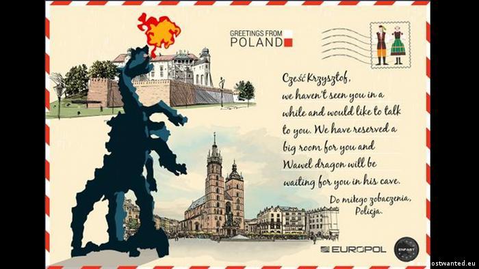 Poland postcard - Europol