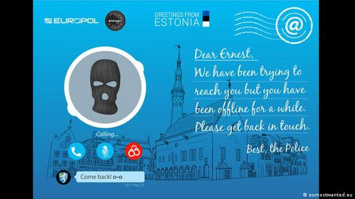 Estonia postcard - Europol