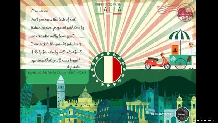 Italy postcard - Europol