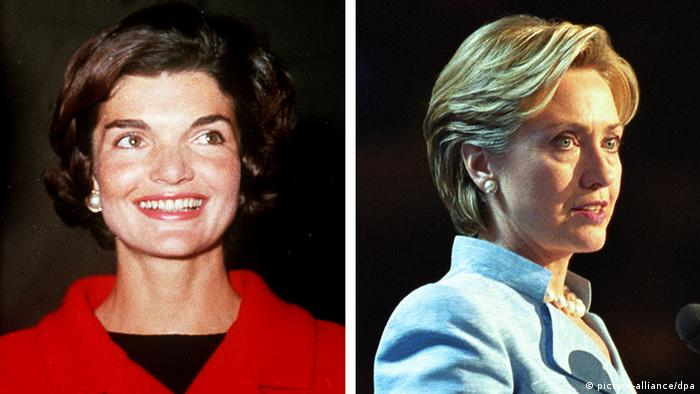 Kombobild Jackie Kennedy (links) Hillary Clinton (rechts) (picture-alliance/dpa)