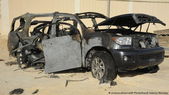 Saudi Arabien Qatif - Autowrack (picture-alliance/AP Photo/Saudi Interior Ministry)
