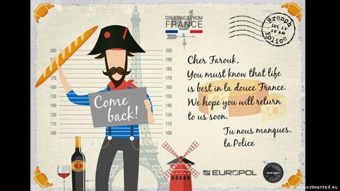 Postkarten - eumostwanted summercampaign: Frankreich