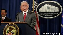 USA Justizminister Jeff Sessions in Washington