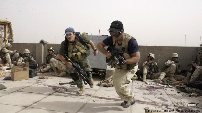 Blackwater-Söldner im Kampfeinsatz im Irak 2007 (Archiv)