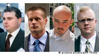 Les quatre hommes grâciés par le président américain : Dustin Heard, Evan Liberty, Paul Slough, Nicholas Slatten