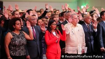 Delegates of the national constituent assmebly meet in Caracas