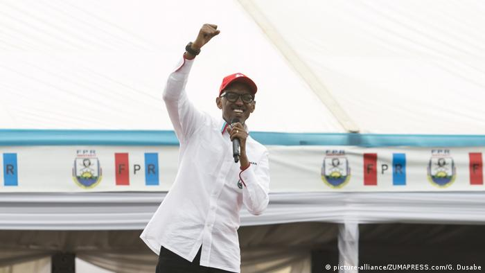 Ruanda Wahlen- amtierender Präsident Paul Kagame (RPF)