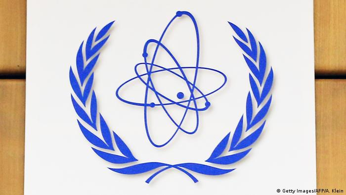 Logo International Atomic Energy Agency IAEA (Getty Images/AFP/A. Klein)
