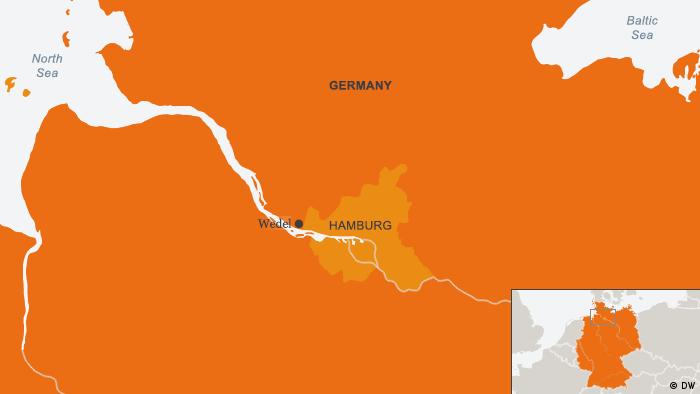 Karte Hamburg Wedel ENG