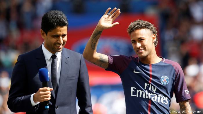 Frankreich Präsentation Neymars im Stadion (Reuters/C. Hartmann)