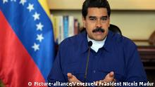Image provided by Venezuela's Presidency shows Venezuelan President Nicolas Maduro addressing a meeting with members of the Constituent Assembly Commission in Caracas July 17, 2017. (Venezuela's Presidency/Xinhua/Sipa USA/TNS) Photo via Newscom picture alliance |