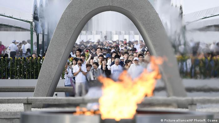 Hiroshima Erinnerung an Atombombenabwurf vor 72 Jahren (Picture-alliance/AP Photo/R. Ozawa)