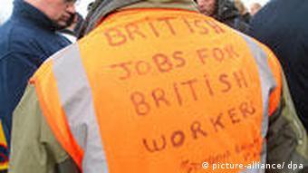 Streiks gegen ausländische Arbeiter in England