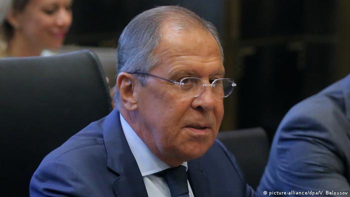 Russland Außenminister Sergej Lawrow Ausschnitt