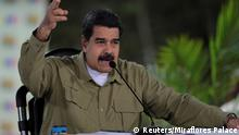 Venezuela's President Nicolas Maduro speaks during his weekly broadcast Los Domingos con Maduro (The Sundays with Maduro) in Caracas, Venezuela August 6, 2017. Miraflores Palace/Handout via REUTERS ATTENTION EDITORS - THIS PICTURE WAS PROVIDED BY A THIRD PARTY.