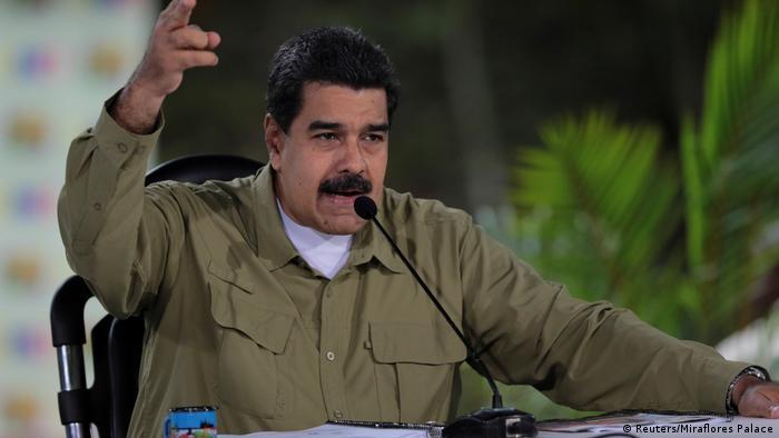 Venezuela Krise - Präsident Maduro während seiner TV-Ansprache (Reuters/Miraflores Palace)