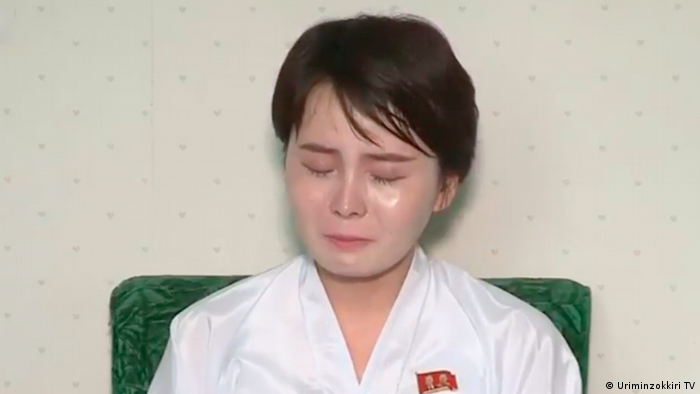 The number of North Korean defectors has been decreasing for several years in a row, but it is still a sensitive subject for the regime. The photo above shows a South Korean television celebrity Lim Ji Hyun (Jeon Hye Song by her real name) who returned to North Korea under suspicious circumstances and made a public statement in July on the local propaganda TV channel about the hell in the South.