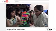 Screenshot Youtube Hazera Mother of 40 Children. Quelle: https://www.youtube.com/watch?v=C-PJzo3Xy9U
