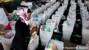Kenia Wahlen Wahlmaterial in Nairobi