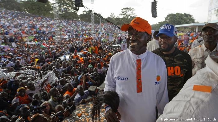 Kenia Wahlen Raila Odinga (picture alliance/AP Photo/B. Curtis)