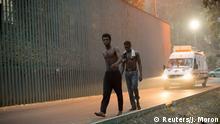 Marokko mehr als 180 Migranten stürmen die spanische Exklave Ceuta