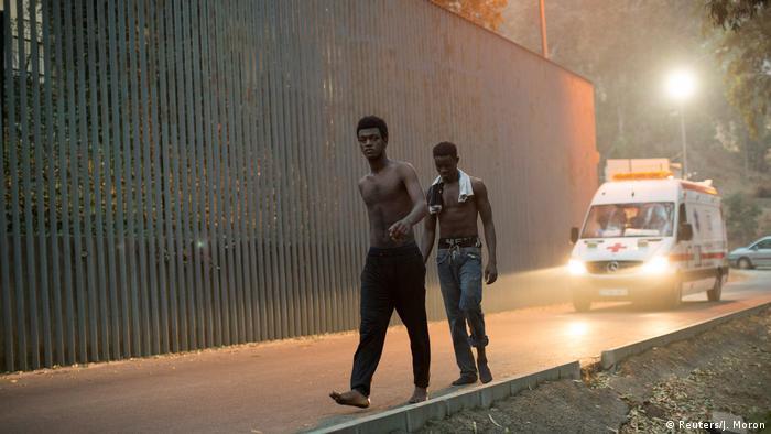 مهاجرون أفارقة في مدينة سبتة-أرشيف
