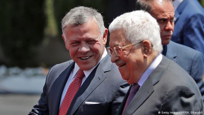Westjordanland Besuch jordanischer König Abdullah bei Mahmoud Abbas in Ramallah