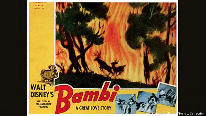 Bambi poster featuring forest fire (picture-alliance/Everett Collection)