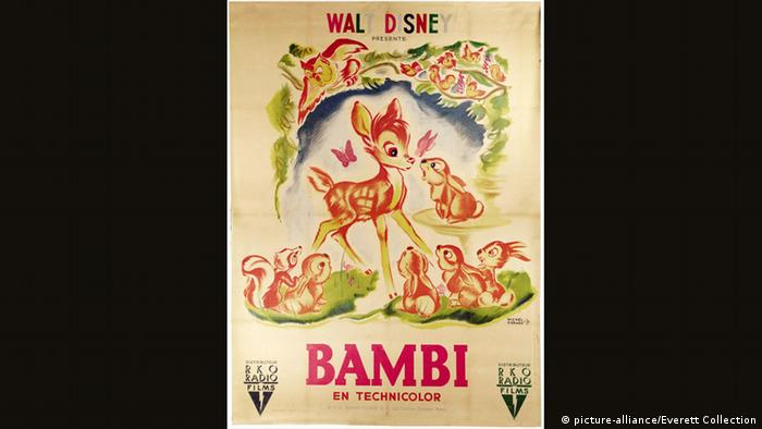 Film poster for Walt Disney's Bambi 1942 (picture-alliance/Everett Collection)