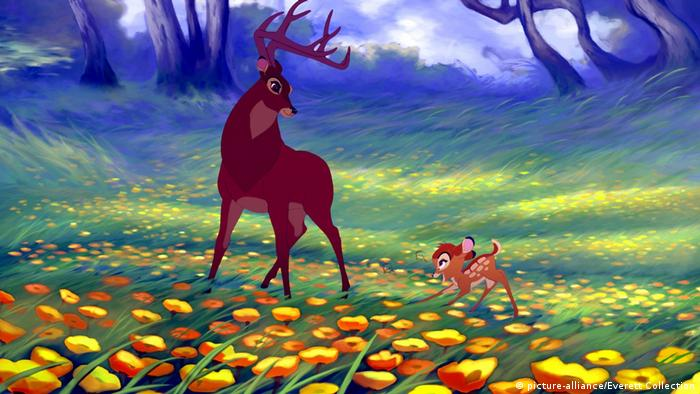 Bambi II film still featuring Bambi with his dad, the buck (picture-alliance/Everett Collection)