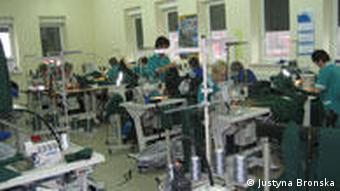 Textile factory in Poland