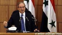 Syrien Damaskus Faisal Mekdad
