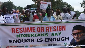 Protest Nigeria (DW/U.A. Idris)