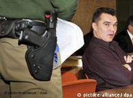 El sindicado mafioso Valentin P. ante una corte de Múnich el 14 de nov. de 2008.