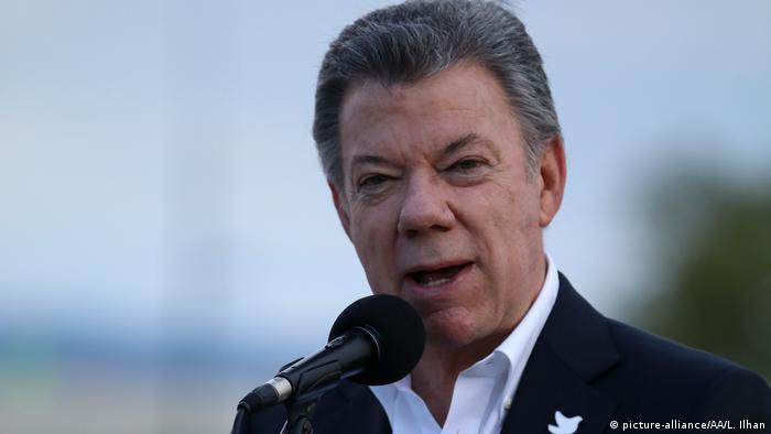 Kolumbien | Präsident Juan Manuel Santos (picture-alliance/AA/L. Ilhan)