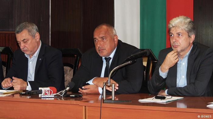 Bulgarien   Kabinettsmitglieder treffen sich mit Vertretern der protestierenden Bauern in Kaliakra