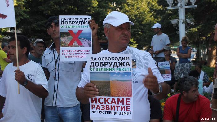 Bulgarien | Aufgebrachte Bürger protestieren gegen eine Ministerverordnung in Bezug auf Natura 2000 der EU (BGNES)