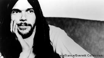 Neil Young - Schwarz-Weiß-Porträt von 1972