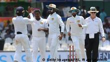 Cricket Sri Lankas Mannschaft (Getty Images/AFP/L. Wanniarachchi )