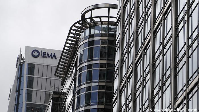Централата на ЕМА в Лондон преди да бъде преместена в Амстердам