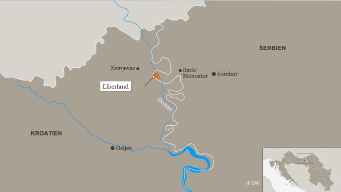Karte Liberland DEU