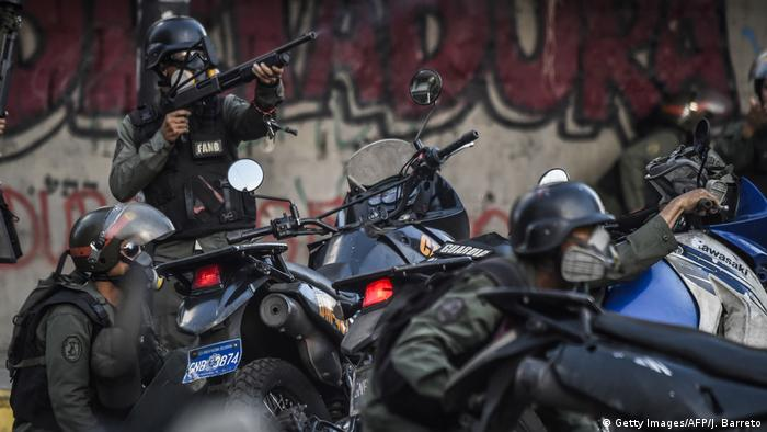 Venezuelan National Guard motorcyclists