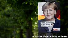 Wahlplakate in Berlin CDU Angela Merkel (picture alliance/dpa/B.Pedersen)