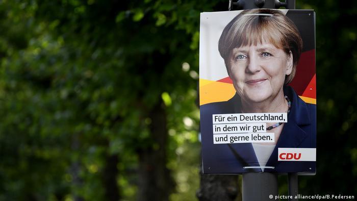 Предвыборный плакат ХДС, Ангела Меркель, выборы в бундестаг-2017