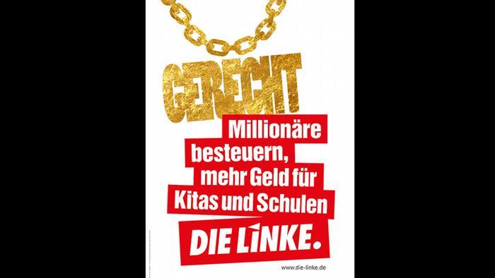 Wahlplakat Die Linke 2017
