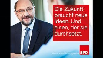 Мартин Шульц на предвыборном плакате СДПГ