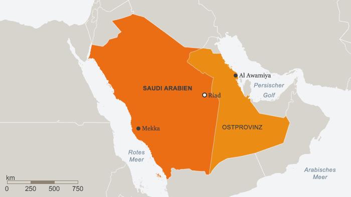 Karte Saudi Arabien